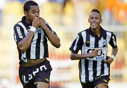 robinho was at home in santos